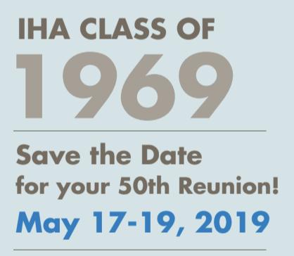 Class of 1969 50th Reunion - May 17-19, 2019 Thumbnail Image