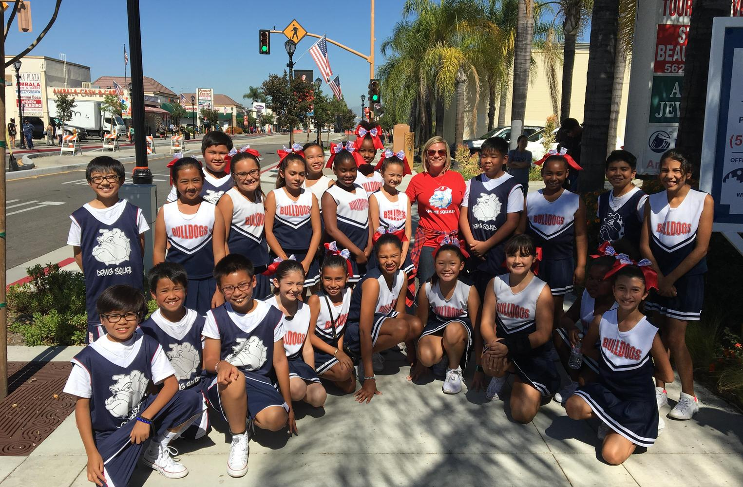 Burbank Cheerleading Team