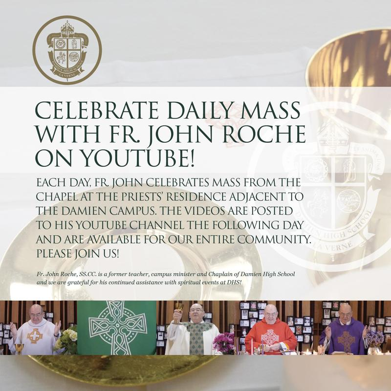 Celebrate daily Mass with Fr. John Roche on YouTube! Featured Photo