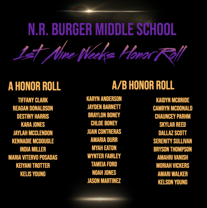 First Nine Weeks Honor Roll Announced Featured Photo