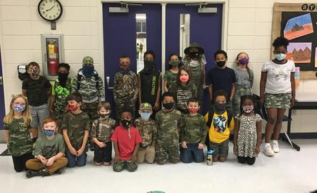 Mrs. Vigna's 2nd Graders Wear Camo to