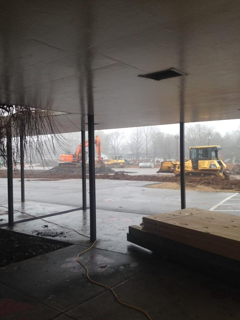 front of school before awning is removed
