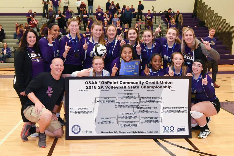 Volleyball team brings home the OSAA 2A 2018 State Champions Thumbnail Image