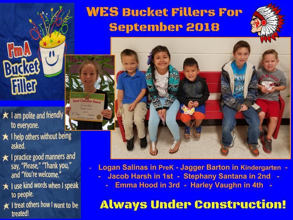 Bucketfillers September 2018
