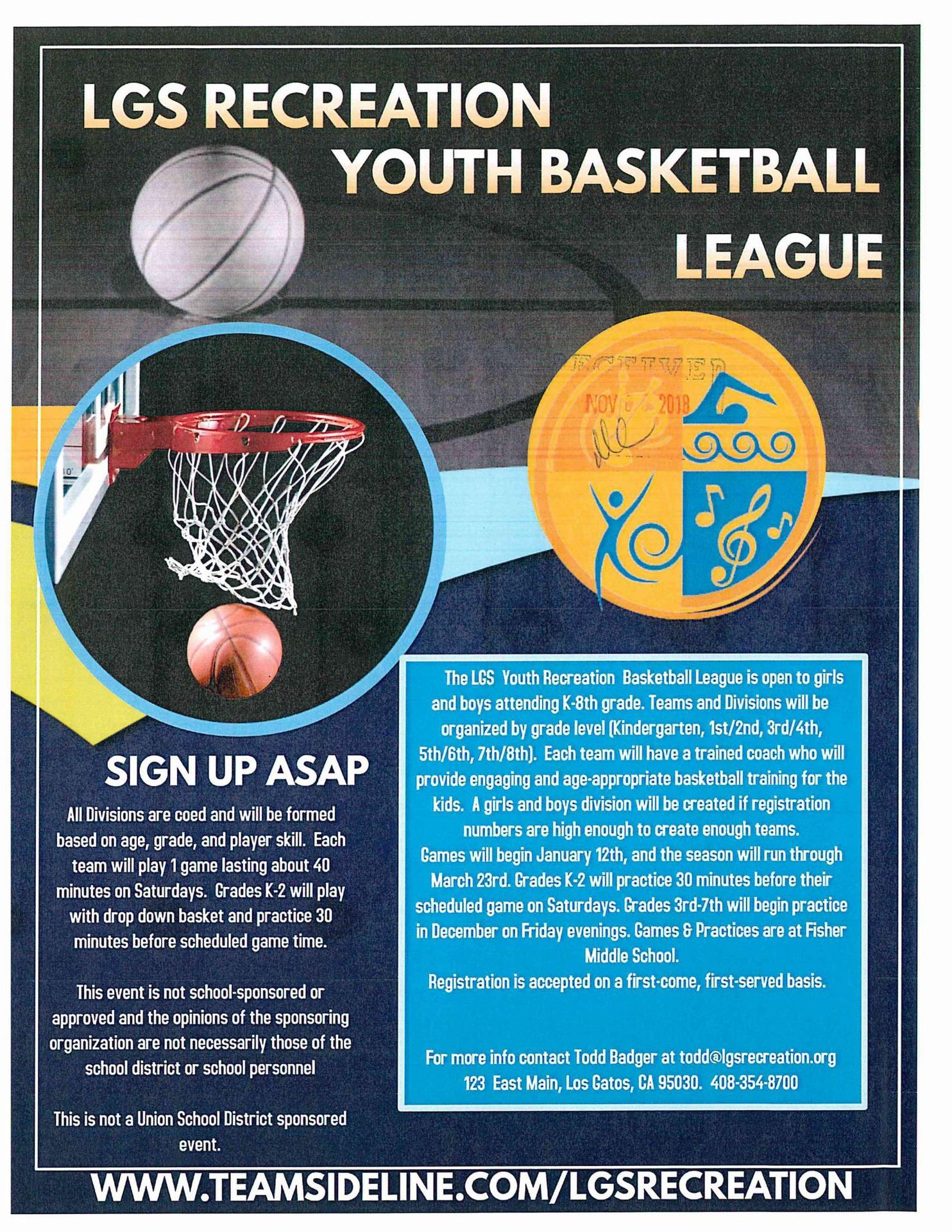 LGS Recreation Youth Basketball League