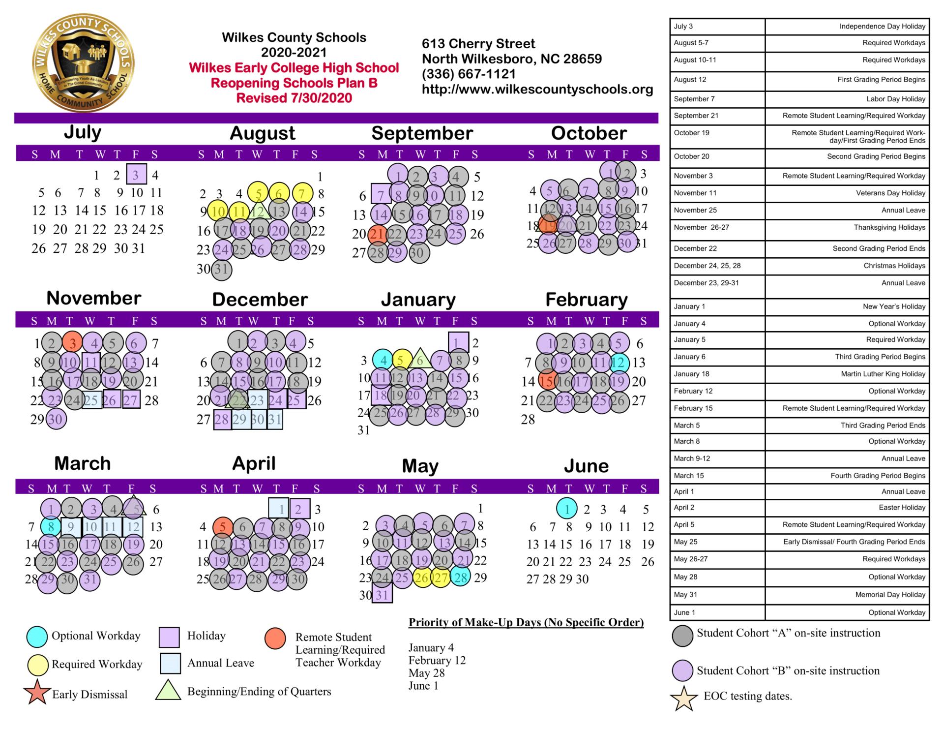Wcs Calendar 2021 2022 | Printable March