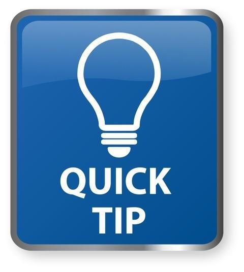 Quick tip image with lightbulb