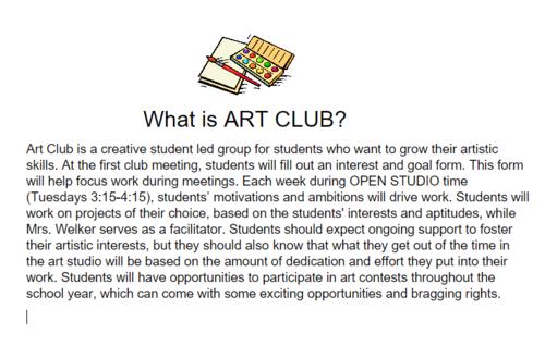 art club description