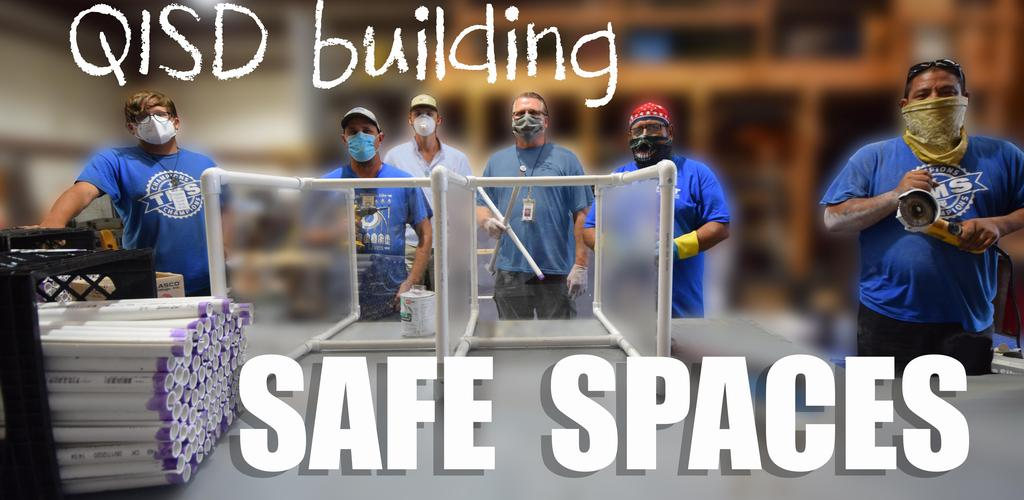 QISD Building Safe Spaces.  A pic of technology building PPE
