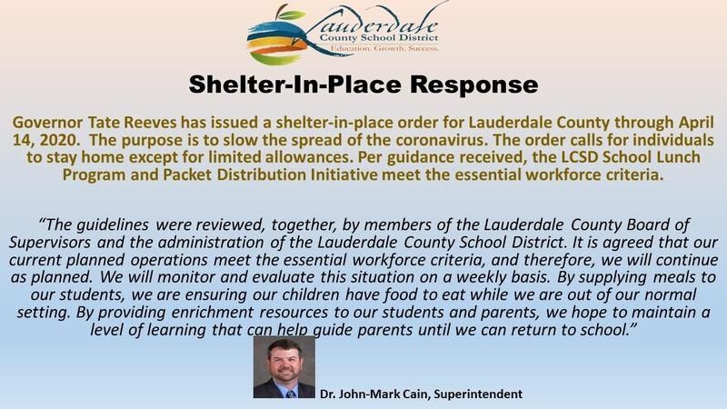 LCSD Shelter-in-Place Response Graphic
