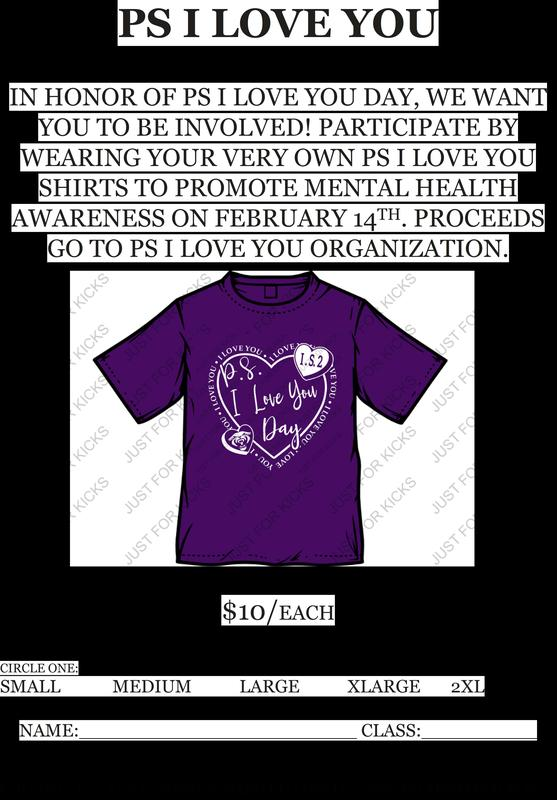 PS I Love You shirt order form