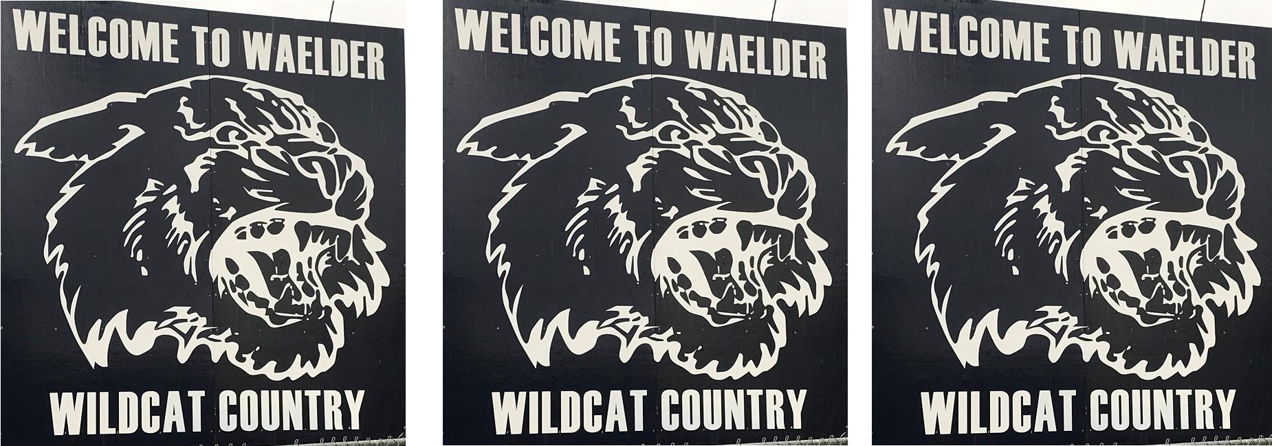 New Welcome to Waelder Sign