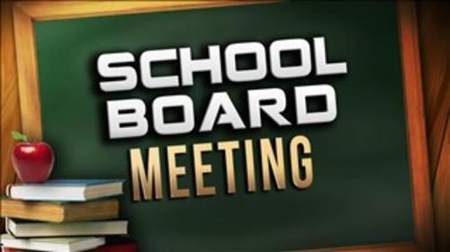 school board meeting text in image