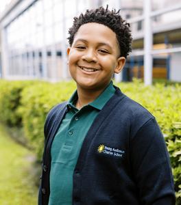 Middle School Learner in Uniform