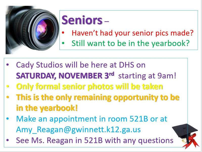 Seniors – Haven't had your senior pics made? Still want to be in the yearbook? Thumbnail Image