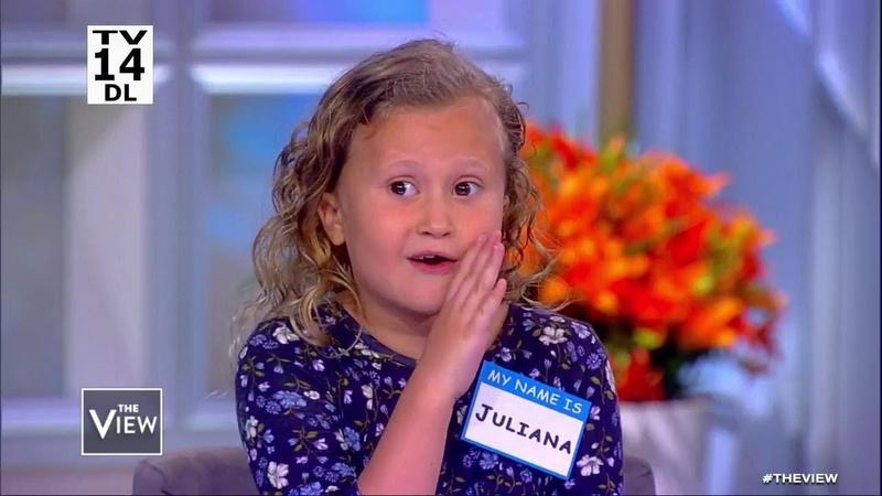 GWCS 4th grader, Juliana McComb, is on The View! Featured Photo