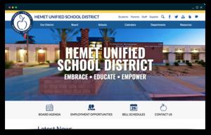 Hemet USD homepage