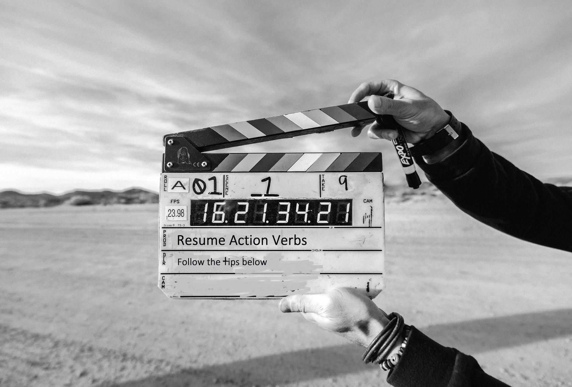 action verbs movie clapper