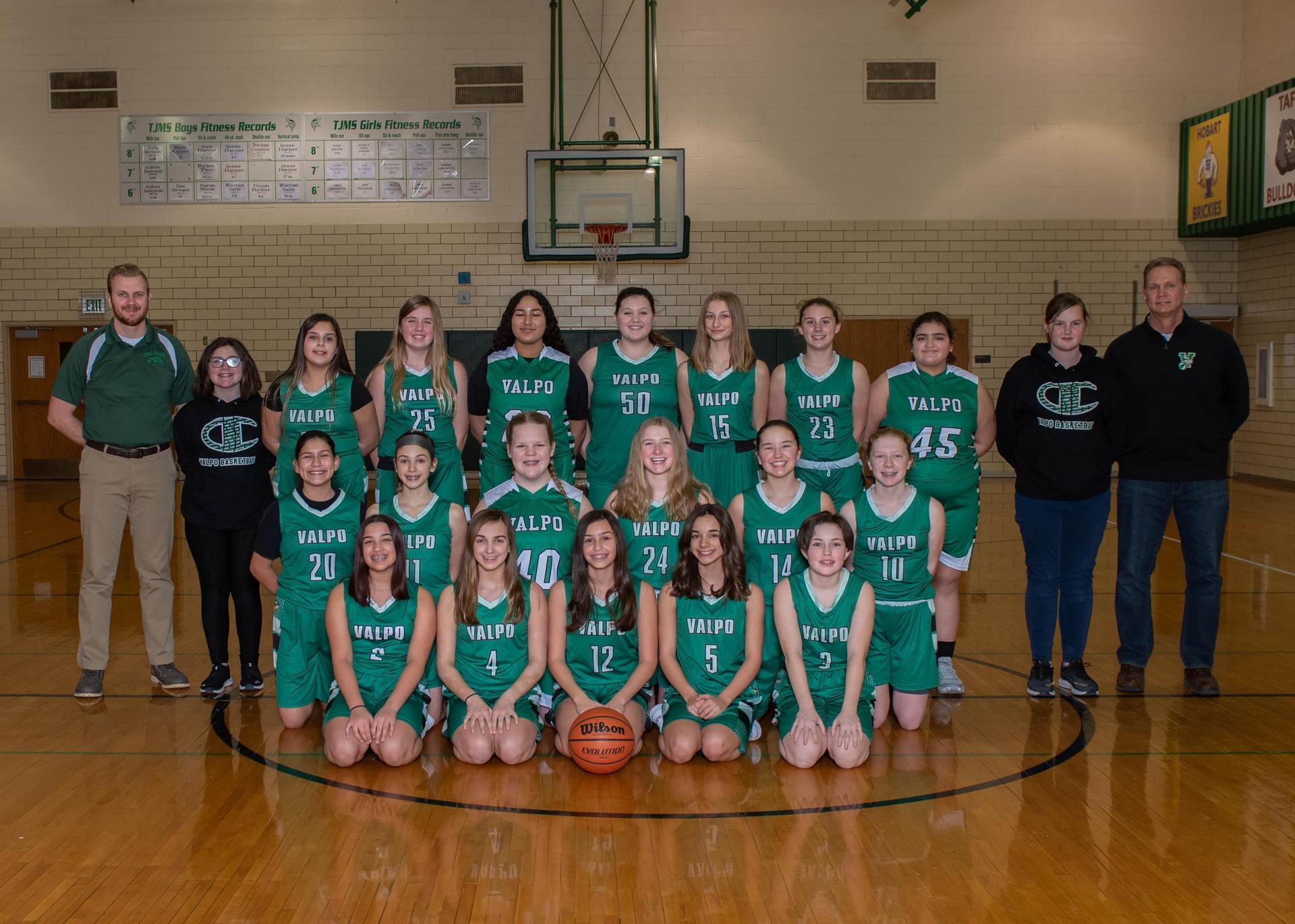 7th Grade Girls Basketball 2020