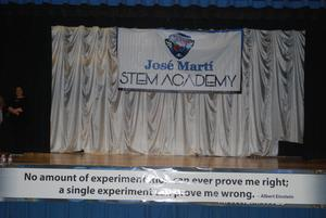 Jose Marti STEM Academy banner and icon