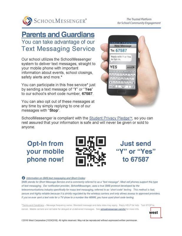 school messenger info english