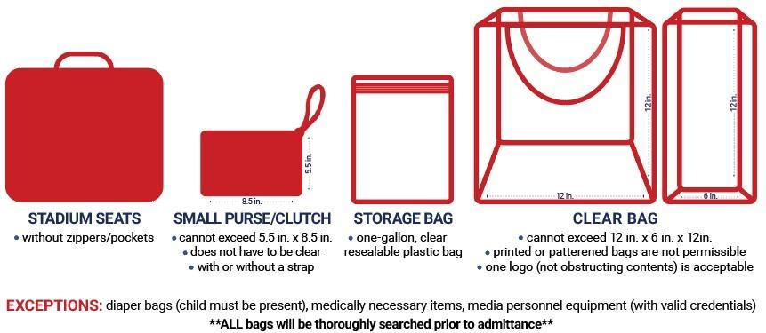 flyer for a clear bag policy