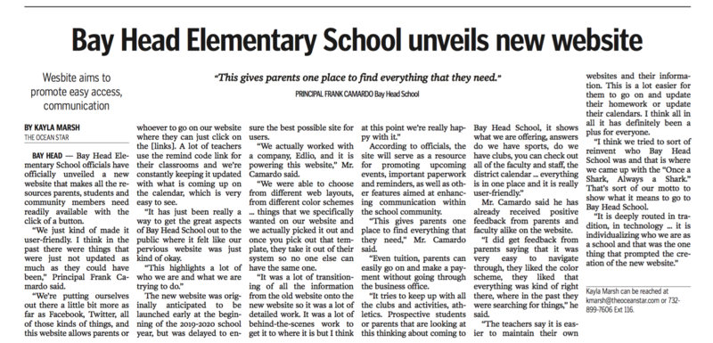Ocean Star Article on BHS New Article
