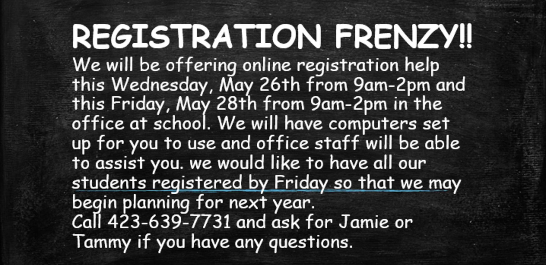 Registration Frenzy!