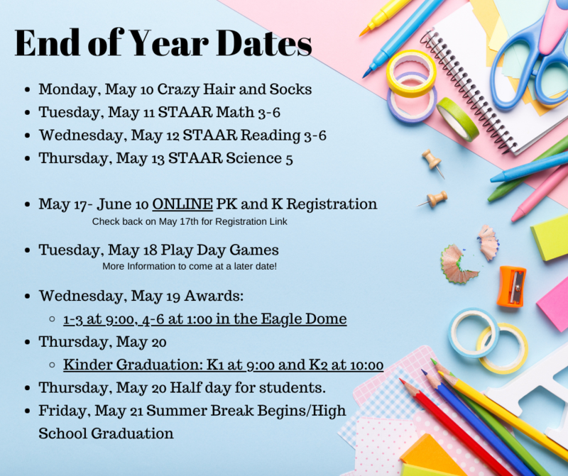End of Year Important Dates! Featured Photo