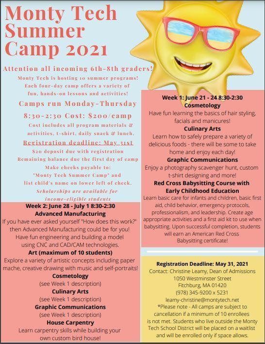 Monty Tech Summer Camp