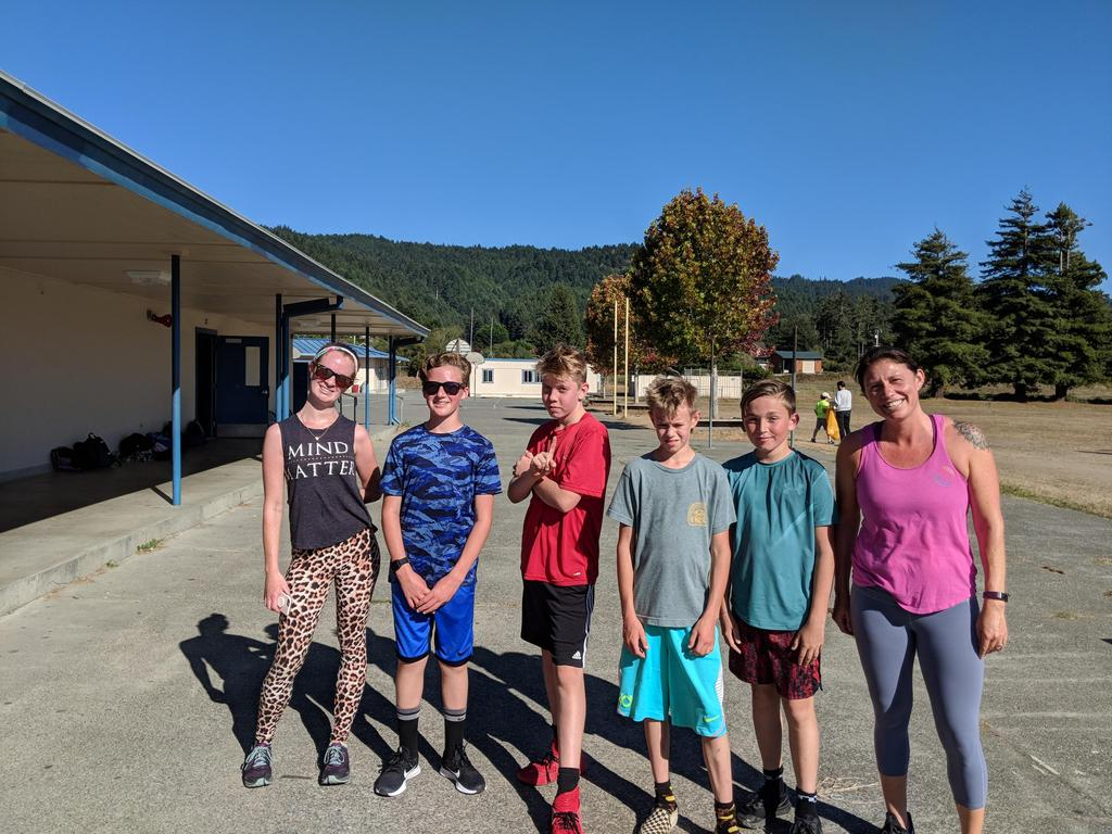 Members of the SBMS Cross Country Team practicing after school.