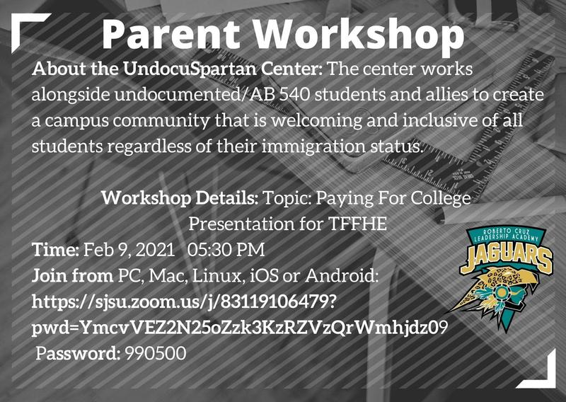 ~Parent Workshop Feb. 9th at 5:30PM Featured Photo