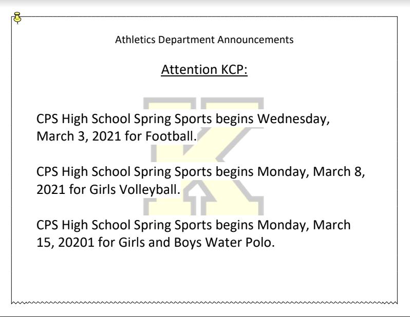 Spring Sport Begins