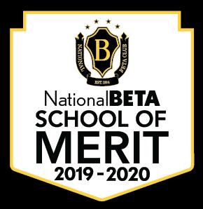 Image showing Beta Club School of Merit award.