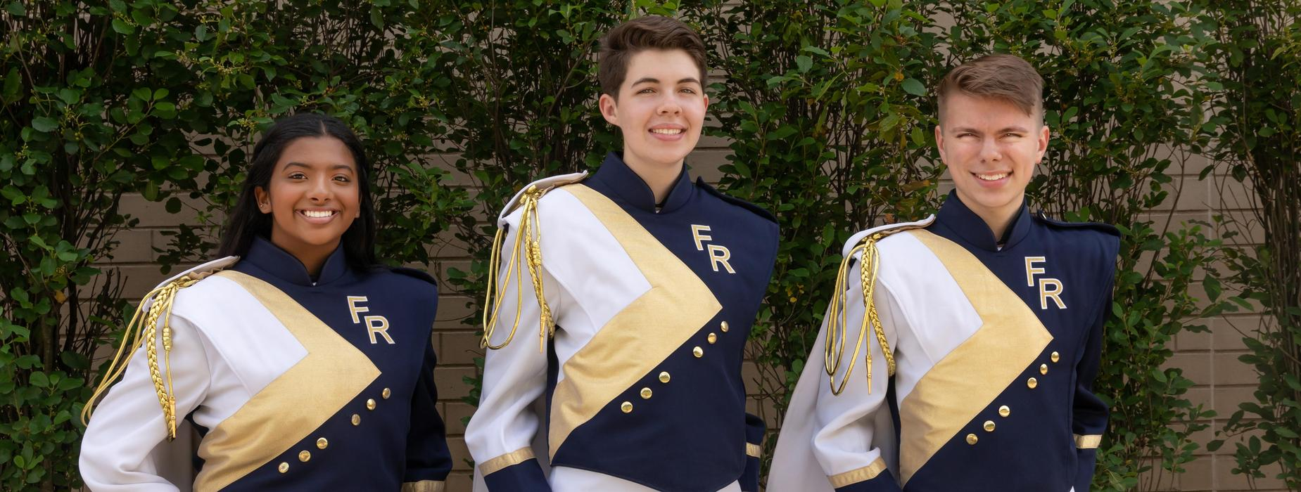 FR Panther Marching Band Drum Majors