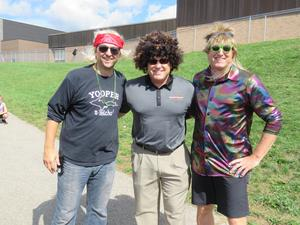 TK administrators and teachers actively supported the walk-a-thon event.