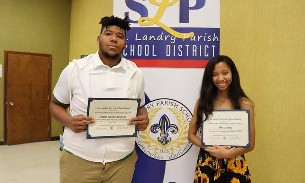 Amy Dartez and Elisha Pierre-Auguste - Received the Advanced Placement Scholar Award