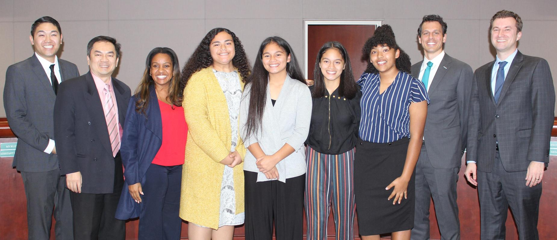Warner students recognized at Board Meeting