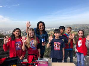 Olinda students on KTLA