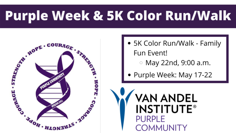 logos and graphics for purple week
