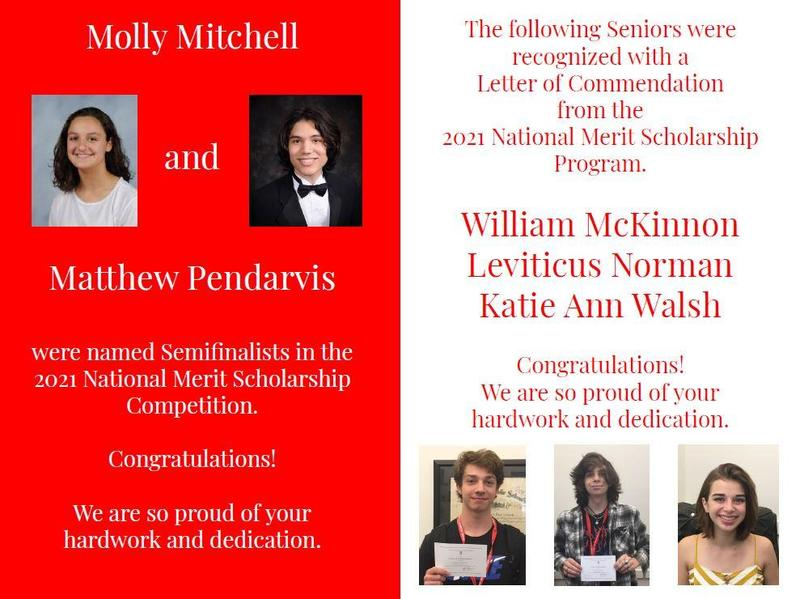 GA Seniors Recognized in National Merit Scholarship Competition Featured Photo