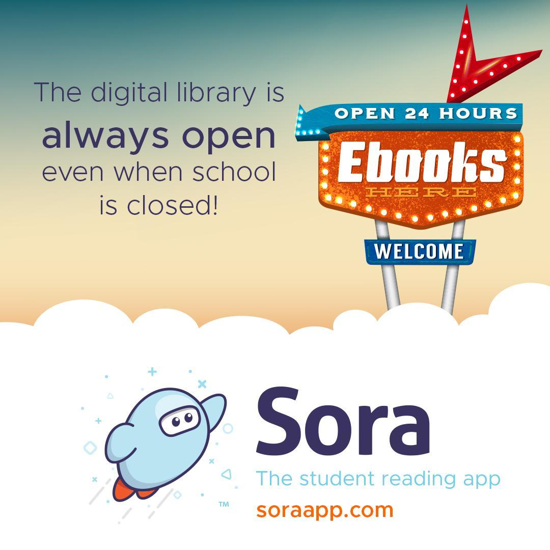 Picture advertising Sora being open 24 hours a day
