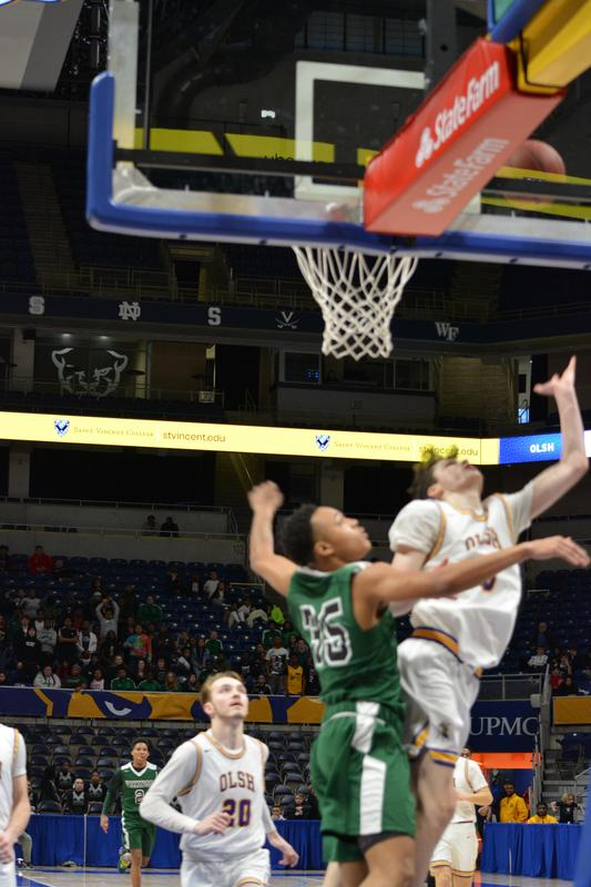 OLSH rebound action at the WPIAL championship game