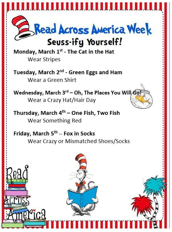 Dr Suess Week-Frazier Elementary School
