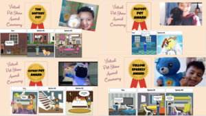 Storyboard and pet awards collage