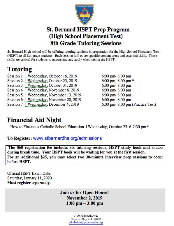 HSPT (High School Placement Test) Prep Program Featured Photo