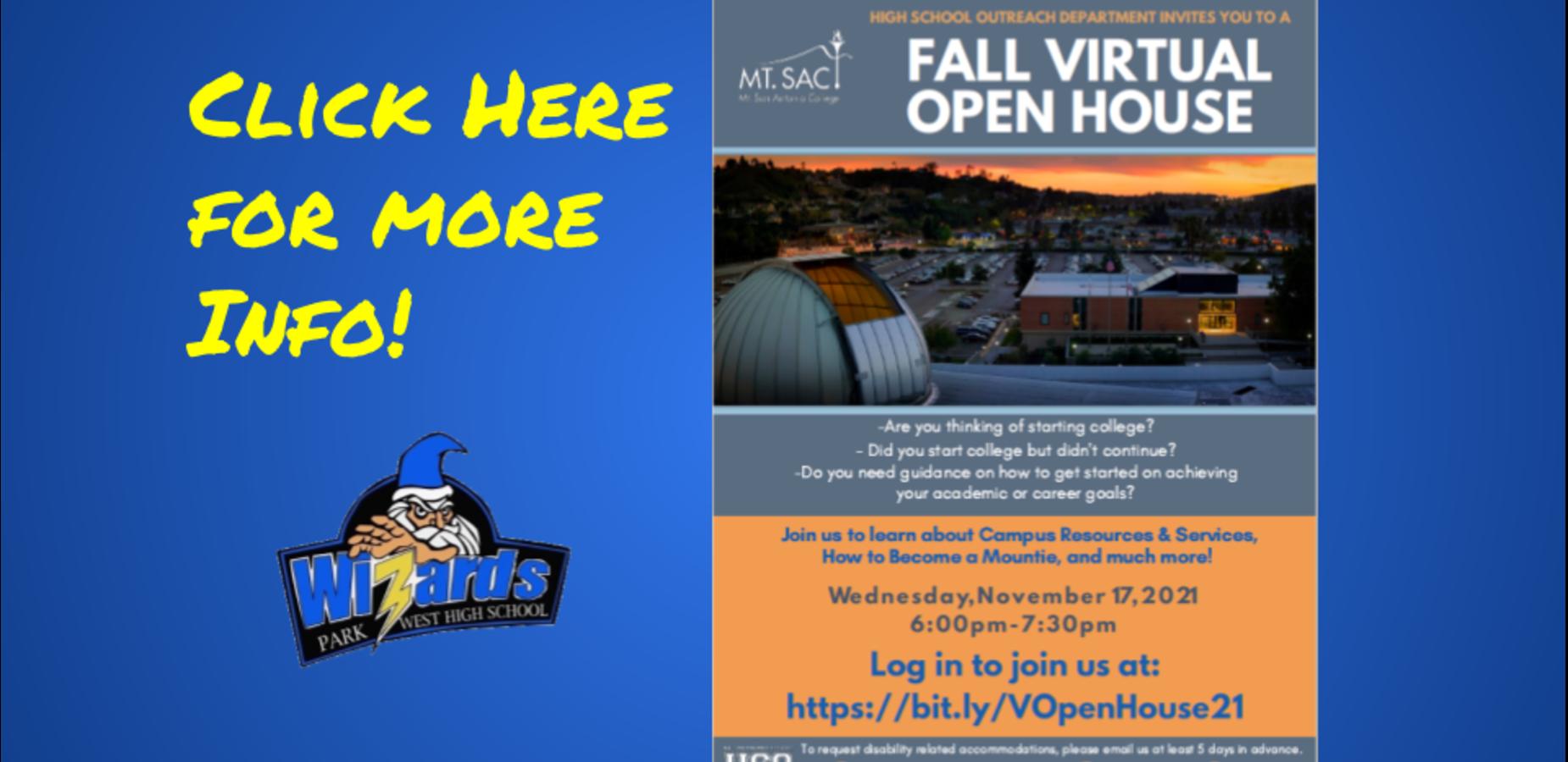 Fall Virtual Open House