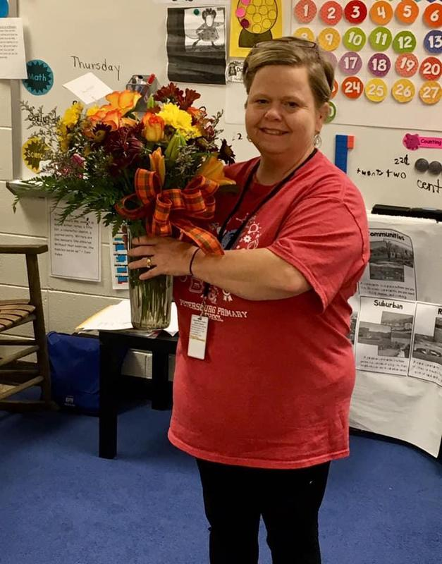 Congratulations to Mrs. Amy Moser, 2nd Grade Teacher, for being named Petersburg Primary School's 2019-2020 Distinguished Reading Teacher of the Year! Featured Photo