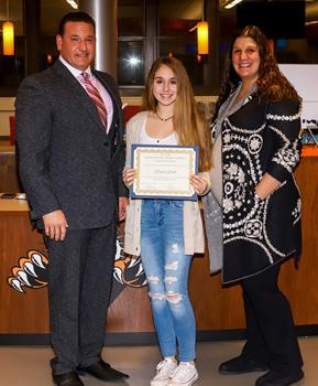 Hackettstown Middle School Student of the Month - November 2019 - Megan Gaida