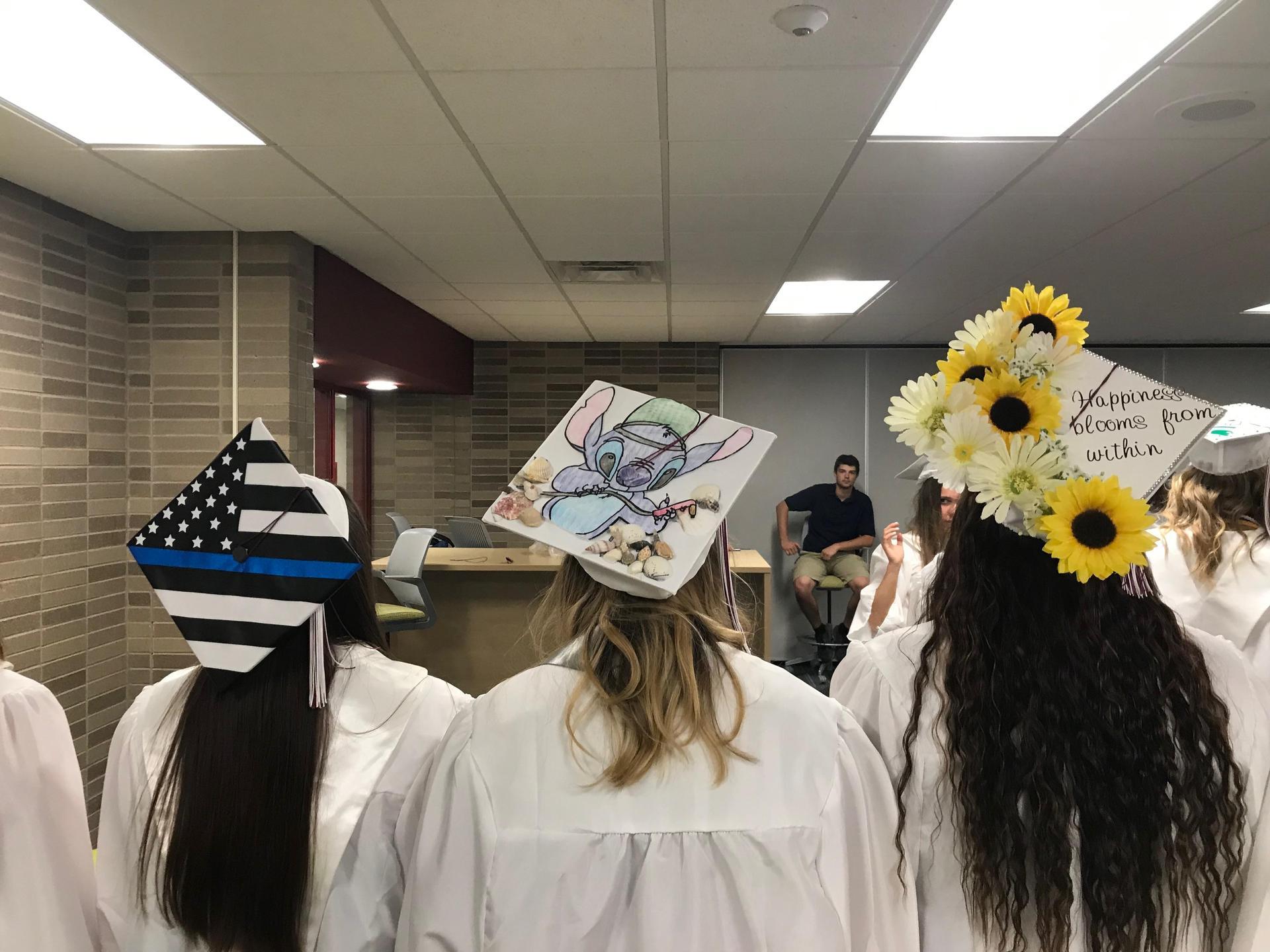 decorated grad caps